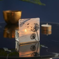Dandelion White Marble & Gold