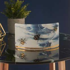 Bees White Marble & Gold